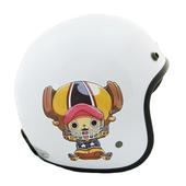海賊王3/4罩復古帽 安全帽(S-白色)