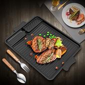 《韓式》麥飯石滴油烤盤 烤肉 油切 不沾 長方形(32(含把手37.5)X26X3cm)