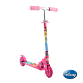《Disney》Disney迪士尼快樂兒童兩輪折疊式滑板車-公主(鋁合金車身,泡棉把手,鋁合金踏板,PVC輪子)健身休閒用品53折起