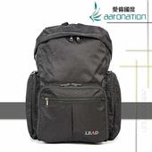《aaronation 愛倫國度》aaronation 愛倫國度 -BAIHO系列摺收式後背包-URA-LD8853-黑(黑色)