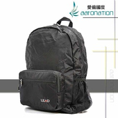 《aaronation 愛倫國度》aaronation 愛倫國度 -BAIHO系列摺收式後背包-URA-LD8856-黑(黑色)