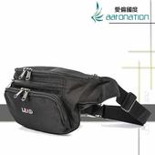 《aaronation 愛倫國度》aaronation 愛倫國度 -BAIHO系列隨身腰包URA-LDAB001-黑(黑色)