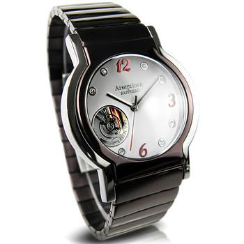 《Arseprince亞瑟王子》城市旅人鏤空機芯中性錶-高雅咖X紅