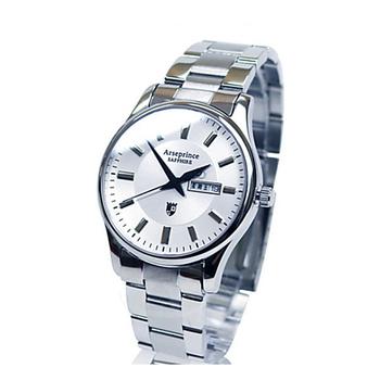 《Arseprince亞瑟王子》復刻回憶雙日顯示腕錶-白色/38mm