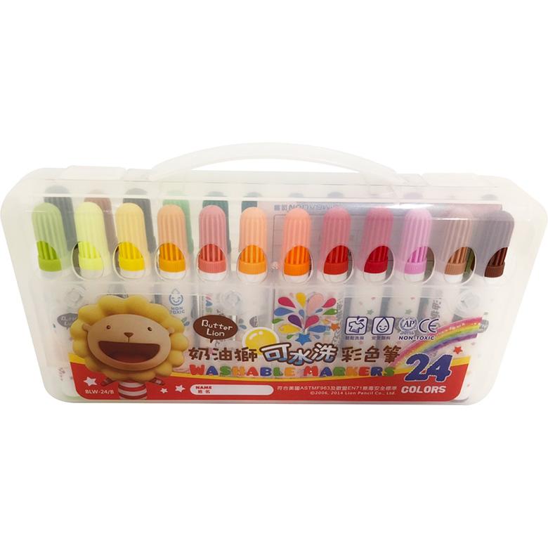 《雄獅》奶油獅可水洗彩色筆24色(3106523A)