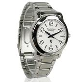 《Arseprince亞瑟王子》藍圈指針時尚中性錶-銀白色