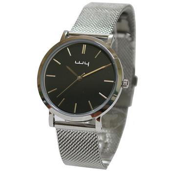 《WY威亞》簡約潮流米蘭銀帶中性錶-黑