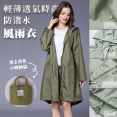 《KISSDIAMOND》薄透氣時尚防潑水風雨衣(防風/輕巧/易收納/晴雨兩穿/深藍)(M/深藍)