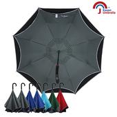 《【皮爾卡登】》雙層紳士自動反向傘(灰黑色)
