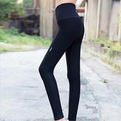 《KISSDIAMOND》高腰塑腹顯瘦強力緊身褲-028(瑜珈/運動/跑步/健身/瘦身/4色S-XL)(S/M/黑色)
