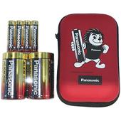《Panasonic》King Leo 1號+3號超值包(鹼性1號2入+3號4入+電池收納包)