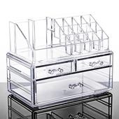 《壓克力》化妝品收納盒 透明 置物盒