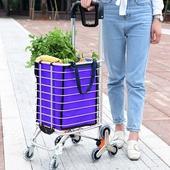 《鋁合金》可爬樓梯購物車 買菜車 便攜(45X30X105cm摺疊21X40X93cm)