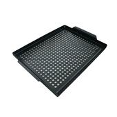 《碳鋼》孔洞鑄鐵 方型不沾烤盤(36.3X29X2cm)