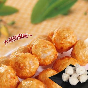 《老爸ㄟ廚房》鮮美花枝風味丸(250g±5%/10顆/包)(2包組)