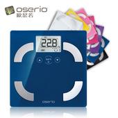 《OSERIO》oserio歐瑟若數位時尚多彩中文體脂計 FSC-351(優雅藍)
