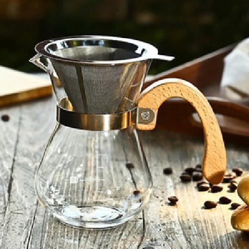 《木柄把手》咖啡分享壺(400ml)