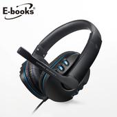 《E-books》S93 藍翼頭戴耳機麥克風(黑)