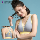 《SOFT LIGHT舒芙蕾》X型運動內衣(灰S)