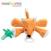 《nookums》寶寶可愛造型安撫奶嘴/玩偶(搖鈴款)(小狐狸)
