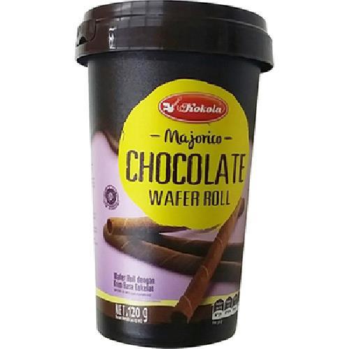 《即期2020.05.26 印尼 魔力哥 Kokola》捲心酥巧克力口味(120g/罐)