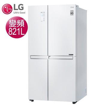 《LG樂金》821公升WiFi門中門對開冰箱-晶鑽白GR-DL88W(含拆箱定位)