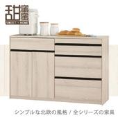 《甜蜜蜜》艾森4尺餐櫃/收納櫃