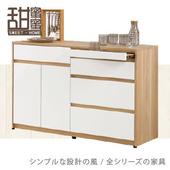 《甜蜜蜜》費雪4尺餐櫃/收納櫃