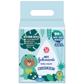 《嬌生》嬰兒純水柔濕巾一般Line90片x3