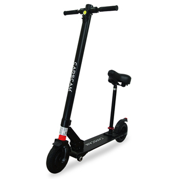 《CARSCAM》8吋雙避震鋁合金8.8Ah輔助輪電動折疊滑板車(坐駕版)