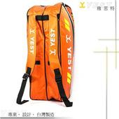 《台灣製造》YEST 雅思特 - 12支支裝羽球拍袋 YS-12B-OG(YS-12B-OG-後背包)