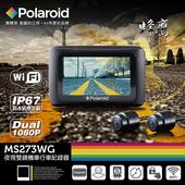 《Polaroid 寶麗萊》MS273WG蜂鷹Wifi機車夜視雙鏡行車記錄器-內附32G卡(限量送-防塵套+固定磁鐵/再送-香氛+擦拭巾)(MS273WG)