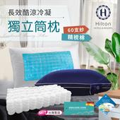 《Hilton 希爾頓》【Hilton 希爾頓】長效冷凝酷涼獨立筒枕/台灣製造/午夜藍(B0065-NZ)