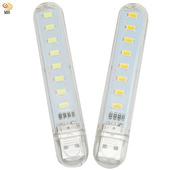 《月陽》超值2入USB超亮8LED4W燈檯燈閱讀燈小夜燈手電筒(HL82)(黃光)