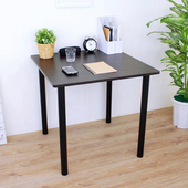 《頂堅》寬80x高75/公分-正方形書桌/餐桌/電腦桌/會議桌(二色可選)(深胡桃木色)