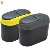 《月陽》超值2入汽車用座掛兩用雙翻蓋垃圾桶雜物桶(LTH19882)