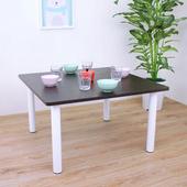 《頂堅》寬80x高45/公分-正方形和室桌/矮腳桌/餐桌(二色可選)(深胡桃木色)