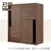 《甜蜜蜜》菲思胡桃5尺推門衣櫃