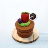 《阿皂屋》圓形蛋糕皂三層草莓可可(100g±5%/盒)