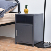 《C&B》鋼鐵斯特極簡邊桌床頭櫃(灰黑)
