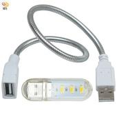 《月陽》USB超亮3LED燈檯燈閱讀燈小夜燈手電筒送蛇頸延長線(HL3SL)(白光)