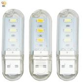 《月陽》超值3入USB超亮3LED燈檯燈閱讀燈小夜燈手電筒(HL33)(白光)