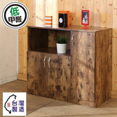 《BuyJM》低甲醛復古風三門廚房櫃/收納櫃(復古)