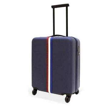 《CRYHD》無印風 青春無敵 20吋 ABS強韌耐磨 海關鎖 行李箱(藍)