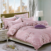 《【Victoria】》抗菌五件式雙人加大床罩組-花嫁