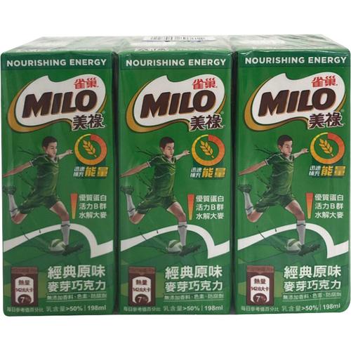 《雀巢》美祿巧克力牛奶麥芽飲品(198ml x 6瓶)