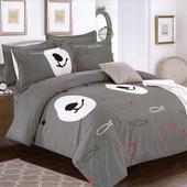 《【Indian】》雙人四件式印花兩用被床包組-叢林法則(叢林法則)
