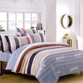 《【Indian】》雙人四件式印花兩用被床包組-幸福曲線(幸福曲線)