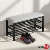 LOGIS| 貓抓皮穿鞋椅 玄關椅 80x30cm【BB04】(灰)