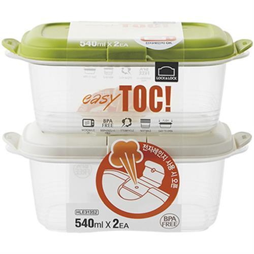 《樂扣樂扣》EZ TOC微波保鮮盒 540ML*2(1B01-HLE313S2)